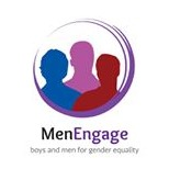 Cropped men engage logo